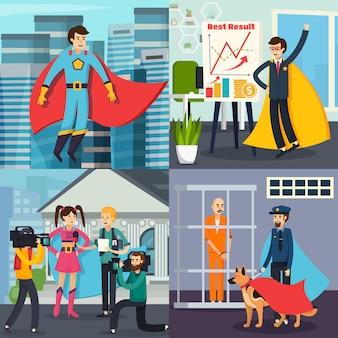 Concepto ortogonal de superhéroe