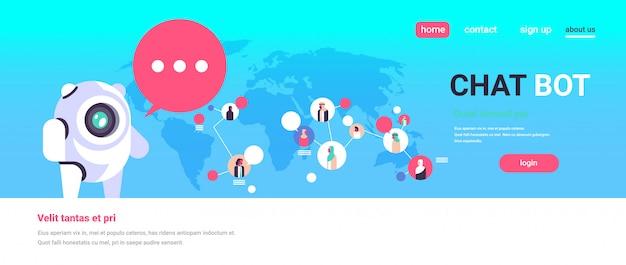 Concepto de página de aterrizaje con chatbot