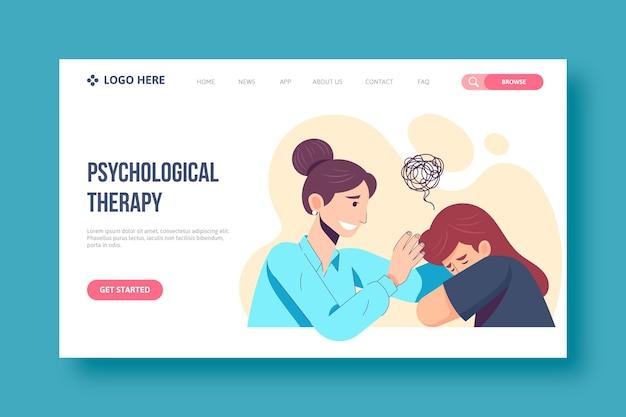 Concepto de página de destino de ayuda psicológica