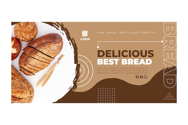 Concepto de página de destino de pan