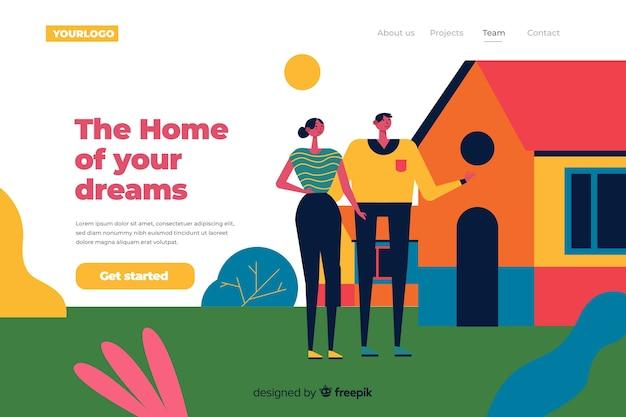 Concepto de página de inicio de búsqueda de casa