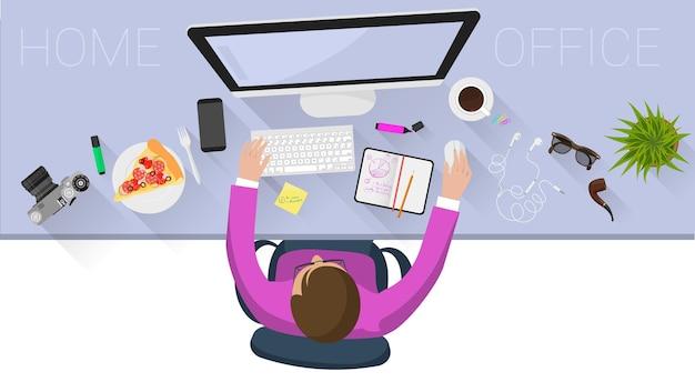 Concepto de página web de diseño plano para procesos comerciales creativos y estrategia comercial
