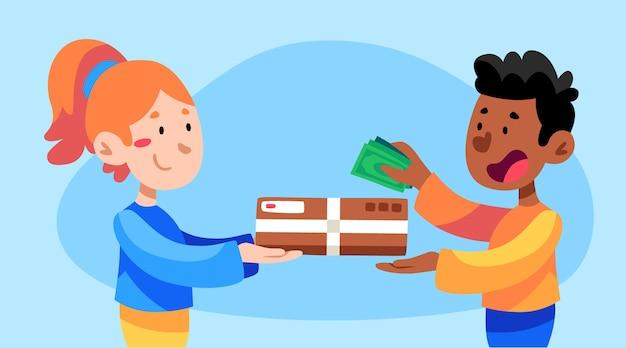 Concepto de pago contra reembolso