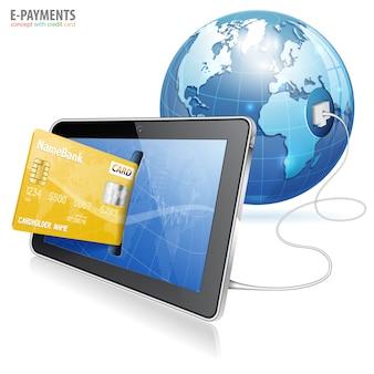 Concepto de pago electrónico
