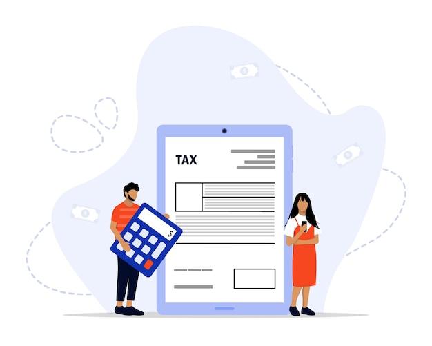 Concepto de pago de impuestos en línea