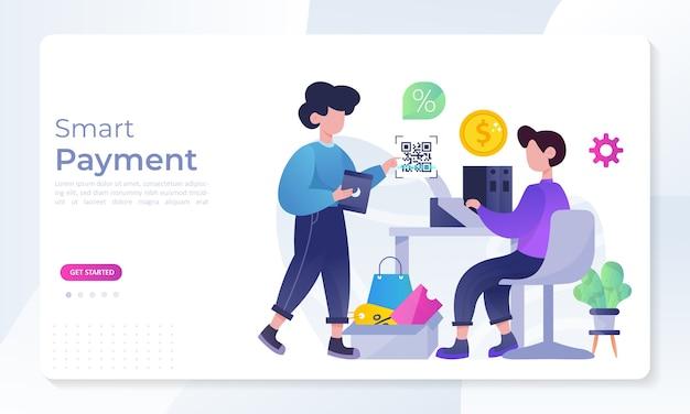 Concepto de pago inteligente