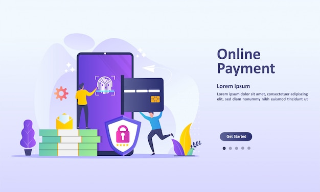 Concepto de pago en línea