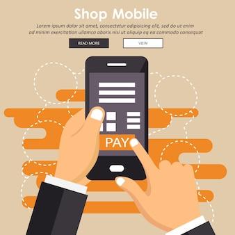 Concepto de pago móvil
