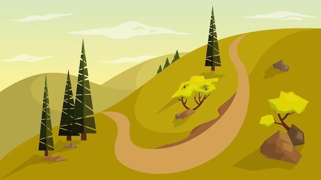 Concepto de paisaje. vista exterior de la naturaleza.