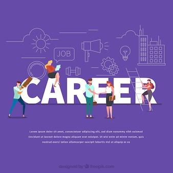 Concepto de palabra career
