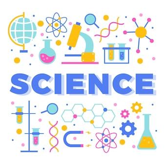 Concepto de palabra de ciencia