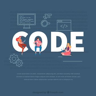 Concepto de palabra code