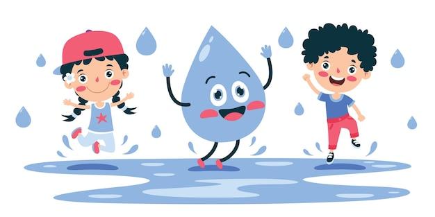 Concepto de palabra día del agua
