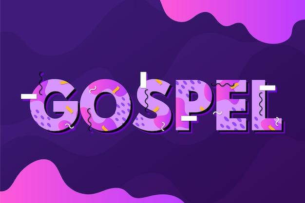 Concepto de palabra del evangelio