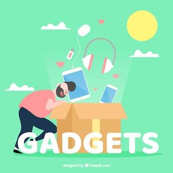 Concepto de la palabra gadgets
