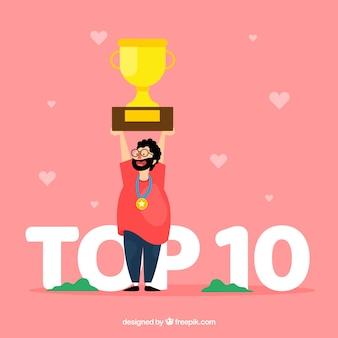 Concepto de la palabra top 10