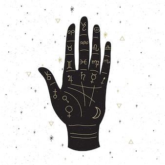Concepto de palmestry