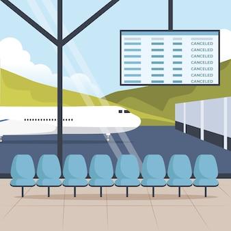 Concepto de pandemia aeropuerto cerrado