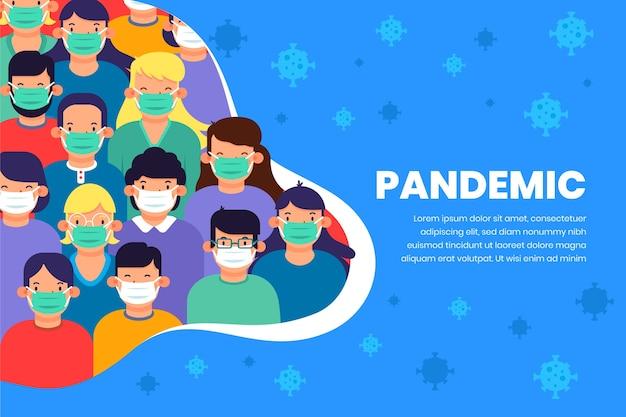 Concepto de pandemia de coronavirus
