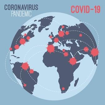 Concepto de pandemia con globo