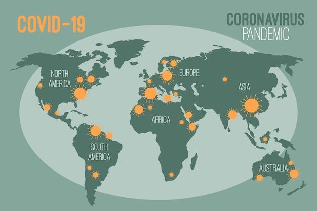 Concepto de pandemia con mapa