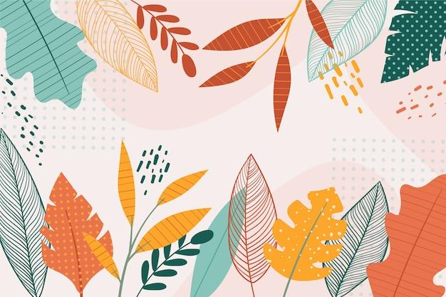 Concepto de papel tapiz floral de diseño plano