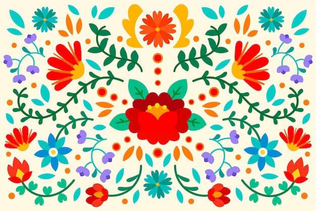 Concepto de papel tapiz mexicano colorido