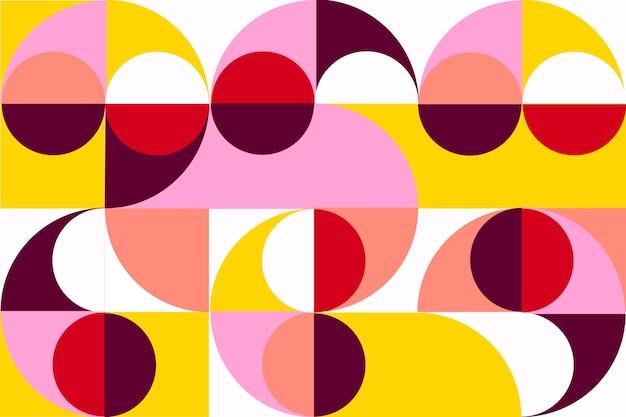 Concepto de papel tapiz mural geométrico