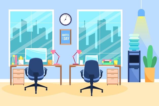 Concepto de papel tapiz de oficina
