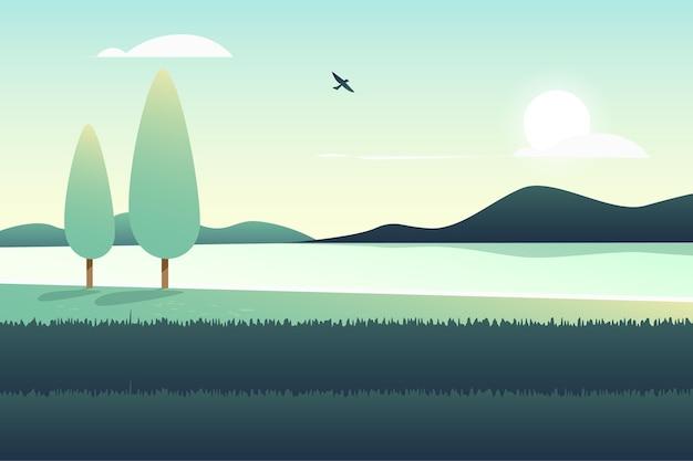 Concepto de papel tapiz de paisaje natural