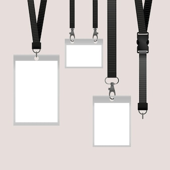 Concepto de papelería de tarjeta de identificación realista
