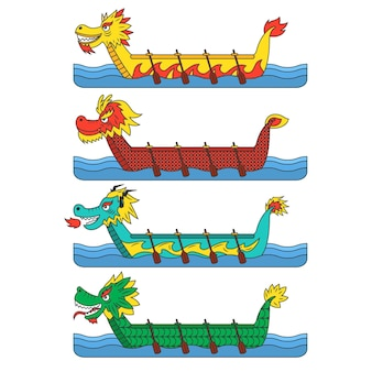 Concepto de paquete de barco de dragón