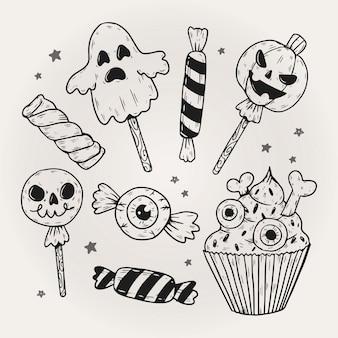 Concepto de paquete de dulces de halloween