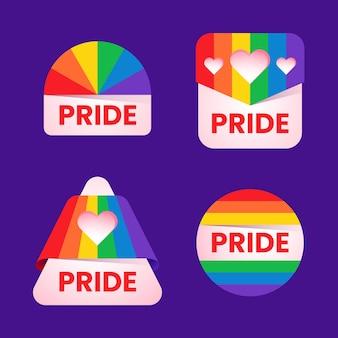 Concepto de paquete de etiquetas del día del orgullo