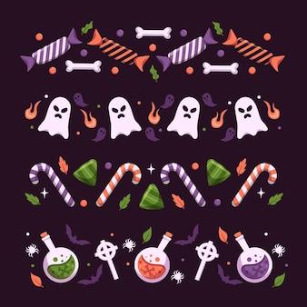 Concepto de paquete de frontera de festival de halloween