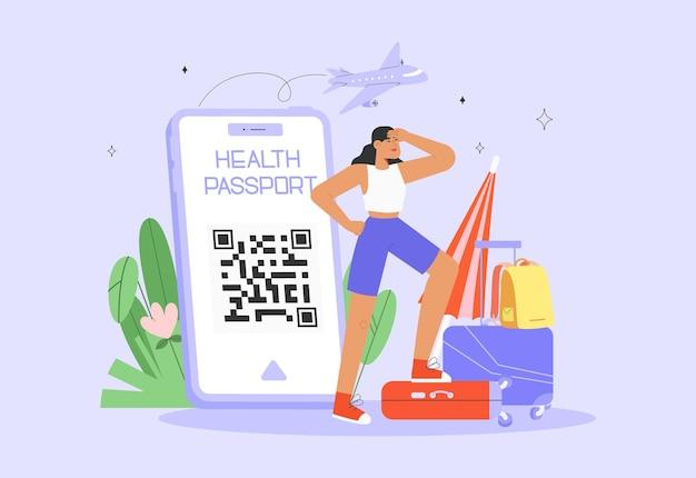 Concepto de pasaporte sanitario