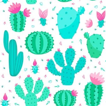 Concepto de patrón de cactus