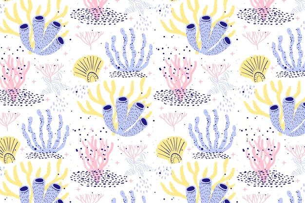 Concepto de patrón de coral