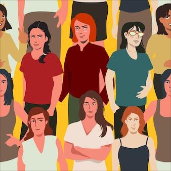 Concepto de patrón para el día de la mujer