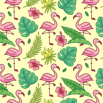 Concepto de patrón flamingo