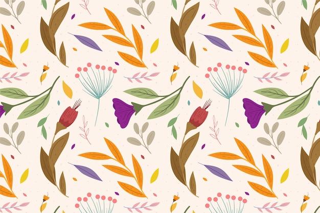 Concepto de patrón floral colorido