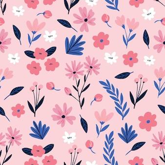 Concepto de patrón floral vector gratuito