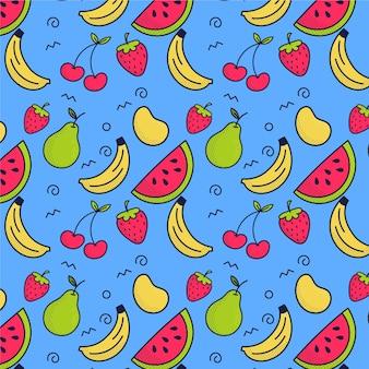 Concepto de patrón de frutas coloridas