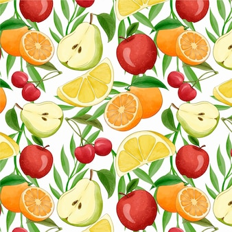 Concepto de patrón de frutas