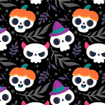 Concepto de patrón de halloween