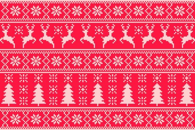 Concepto de patrón de navidad de punto