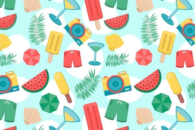 Concepto de patrón de verano colorido