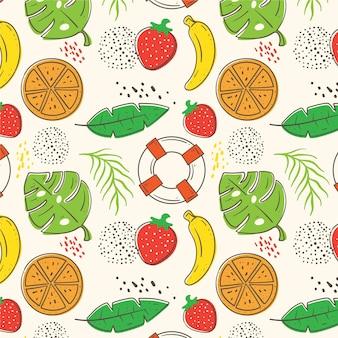 Concepto de patrón de verano