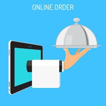 Concepto de pedido en línea