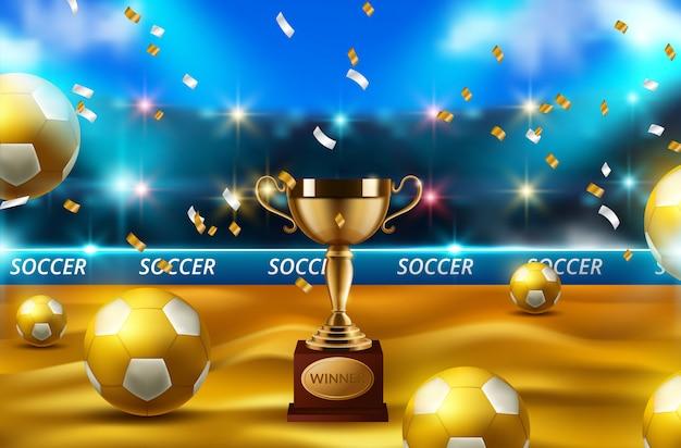 Concepto de pelota de fútbol